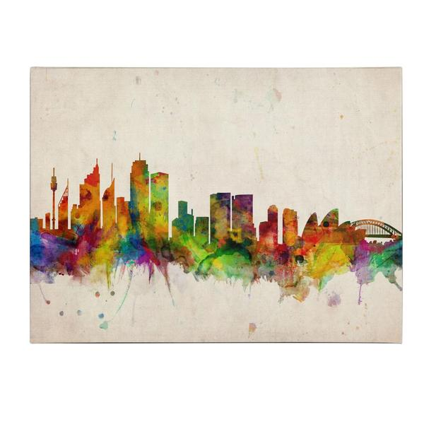 Michael Tompsett 'Sydney Skyline' Canvas Art