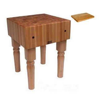 John Boos AB02 Butcher Block Table 24 inch x 18 inch and Bonus Cutting Board.