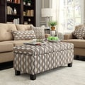 INSPIRE Q Sauganash Mocha Wavy Stripe Lift Top Storage Bench