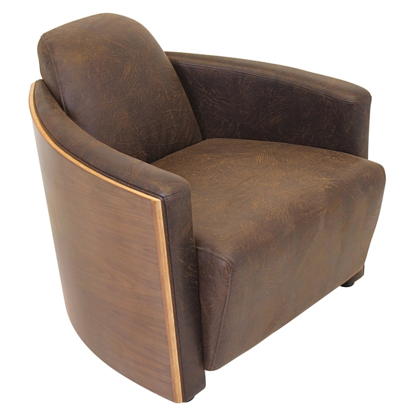 Humidor Bent Walnut Wood Accent Chair