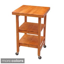 Oasis Concepts All Wood All-Purpose Folding Kitchen Island