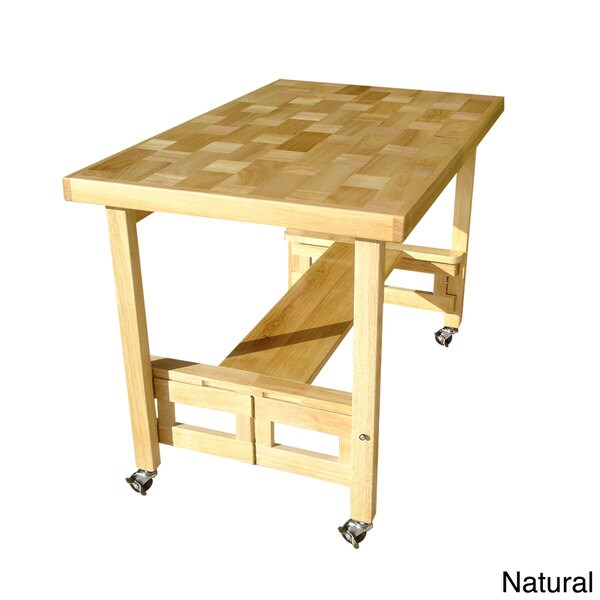 Oasis Concepts All Wood Folding Serving Buffet Dining
