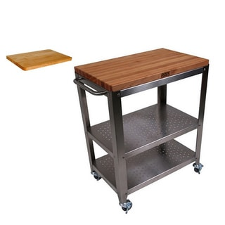 John Boos CU-CULART30 Cucina Culinarte Kitchen Cart with Bonus 18x12 Cutting Board