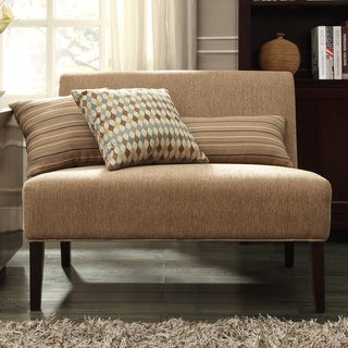 INSPIRE Q Wicker Park Tan Chenille Armless Loveseat