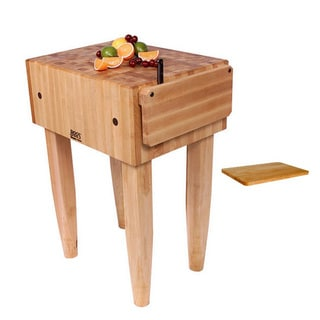 John Boos 'PCA2' Pro Chef Butcher Block Table 24 inch x 18 inch and Bonus Cutting Board