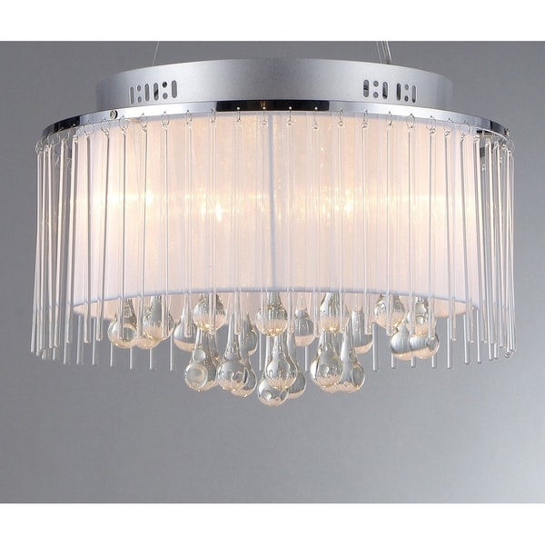 Ares Chrome Five-Light Chandelier