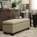 Kayla Colby Stripe Fabric Storage Bench Ottoman
