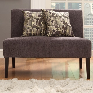 INSPIRE Q Wicker Park Dark Grey Chenille Armless Loveseat