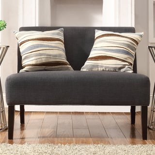 INSPIRE Q Wicker Park Dark Grey Linen Armless Loveseat