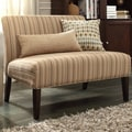 Kayla Montgomery Stripe Fabric Armless Loveseat