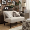 Kayla Grey Fabric Armless Loveseat