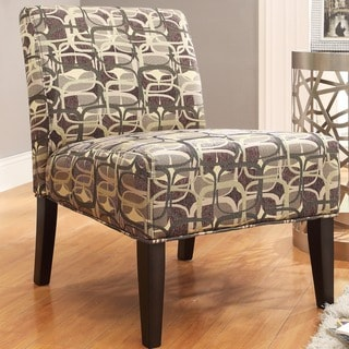 Kayla Fun Geometric Fabric Armless Lounge Chair