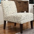Kayla Herringbone Fabric Armless Lounge Chair