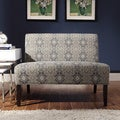 Inspire Q Kayla Medallion Floral Fabric Armless Loveseat