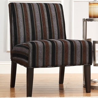 INSPIRE Q Peterson Dark Tonal Stripe Slipper Chair
