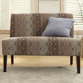 Kayla Fun Oval Fabric Armless Loveseat