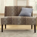 Inspire Q Kayla Fun Oval Fabric Armless Loveseat