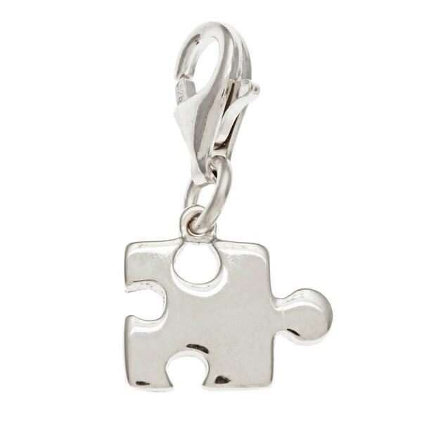 La Preciosa Sterling Silver Small Puzzle Piece Charm