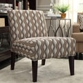 Kayla Primary Wavy Stripe Fabric Armless Lounge Chair