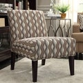 Inspire Q Kayla Primary Wavy Stripe Fabric Armless Lounge Chair