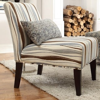INSPIRE Q Peterson Vertical Wavy Stripe Slipper Chair