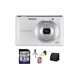 Samsung ST72 16.2MP White Digital Camera 8GB Bundle