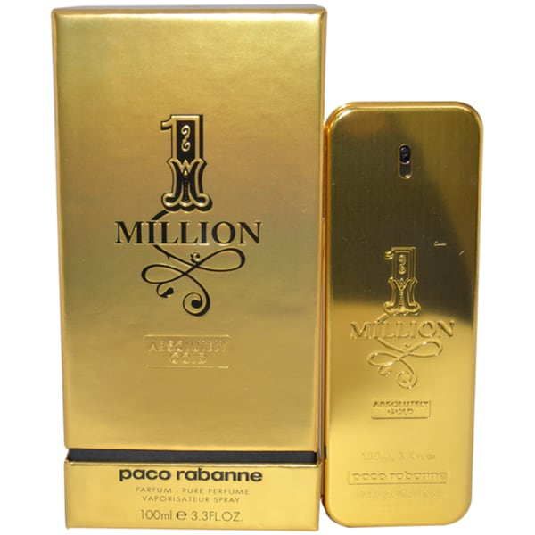 Paco Rabanne 1 Million Absolutely Gold Men's 3.3-ounce Pure Perfume Spray