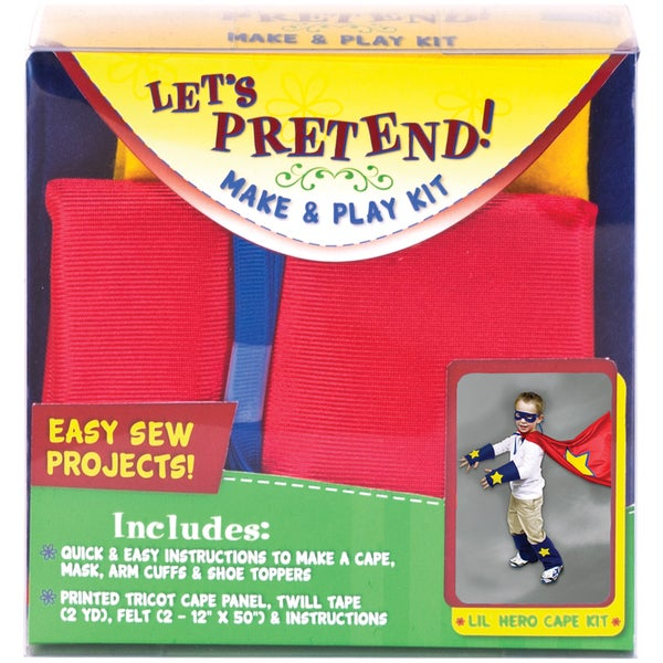 Let's Pretend Cape Kit-Red
