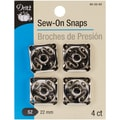 Nickel-Plated Sew-On Snaps-Size 22mm 4/Pkg