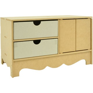 "Beyond The Page MDF 2-Door Buffet Storage With 2 Drawers-9.25""X15.75""X8.25"" (235x400x210mm)"