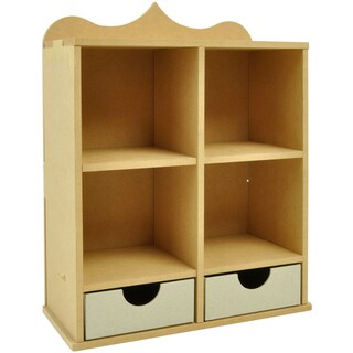 "Beyond The Page MDF Shadow Box Unit With 2 Drawers-11.75""X9""X4.25"" (300x230x110mm)"