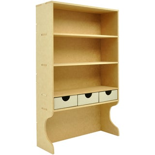 "Beyond The Page MDF Upright Shelves With 3 Drawers-20.5""X12.5""X4.25"" (525x320x110mm)"