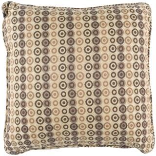 Beautiful Lottie Beige Geometric Indoor/Outdoor Decorative Pillow