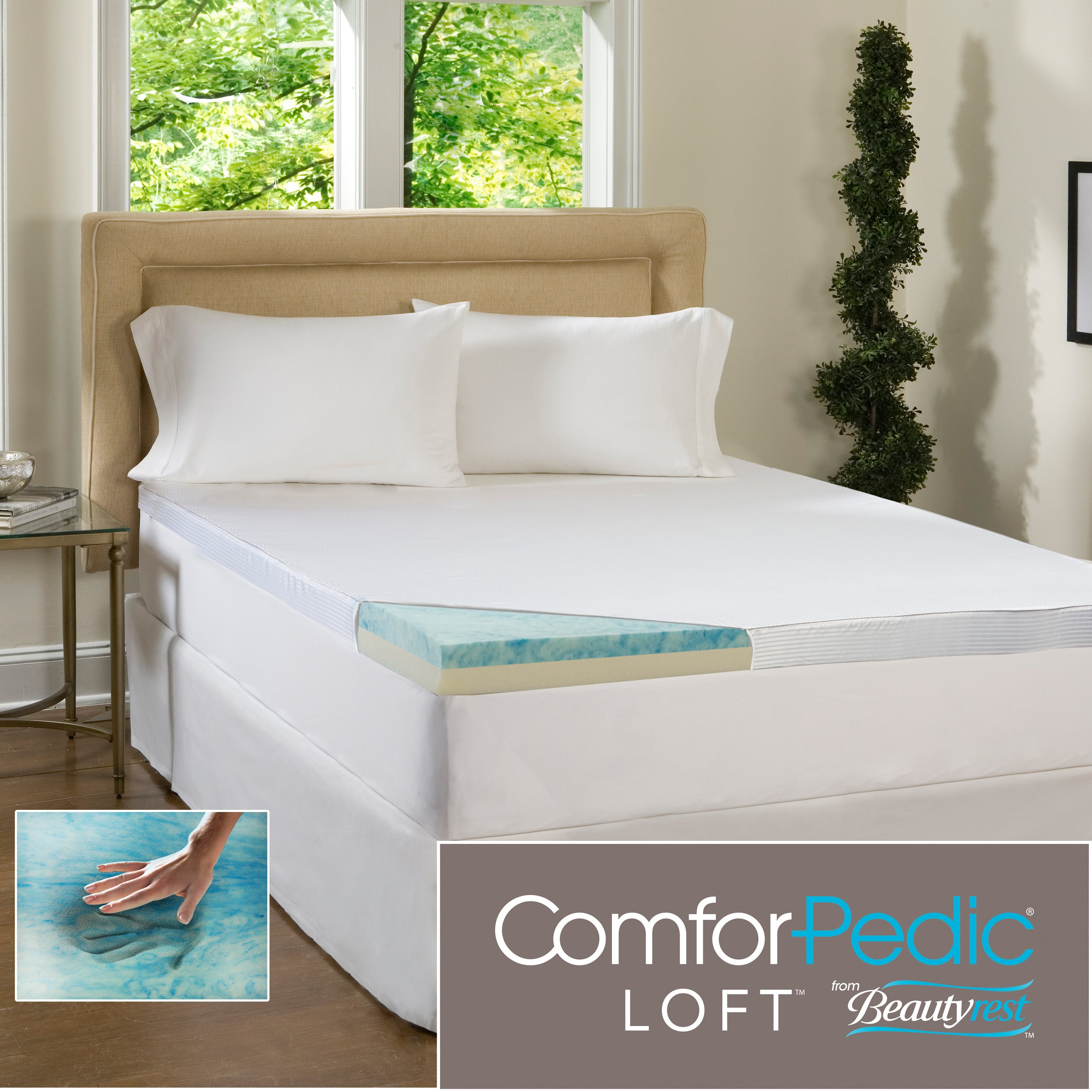 Beautyrest 3-inch Flat Select Gel Memory Foam Mattress Topper with Cover at Sears.com