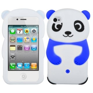 BasAcc White Panda with Blue Hands Case for Apple iPhone 4/ 4S