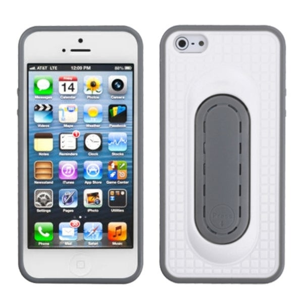 INSTEN White Snap Tail Stand Phone Case Cover for Apple iPhone 5