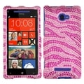 BasAcc Pink/ Hot Pink Zebra Diamante Case for HTC Windows Phone 8X