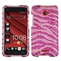 BasAcc Pink/ Hot Pink Zebra Diamante Case for HTC Droid DNA