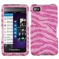 INSTEN Pink/ Hot Pink Zebra Diamante Phone Case Cover for Blackberry Z10