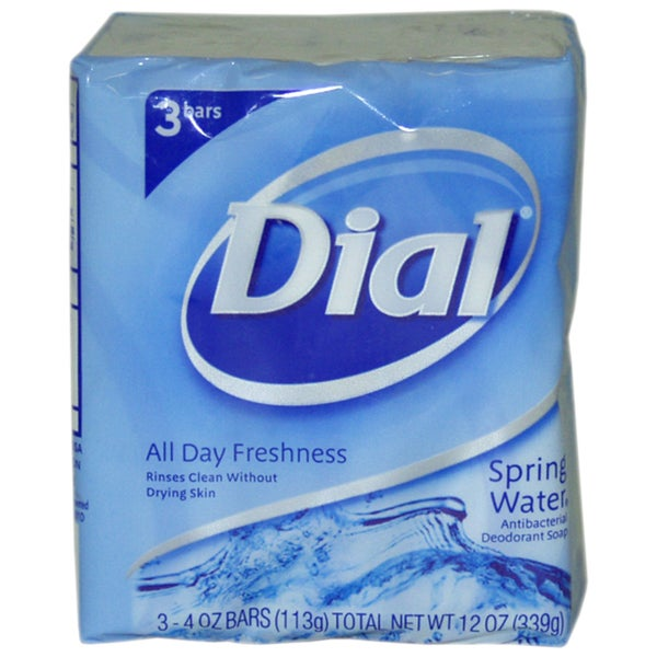 Dial Spring Water Antibacterial Deodorant Soap (Pack of 3)