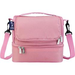 Girls' Wildkin Double Decker Lunch Bag Rip Stop Pink