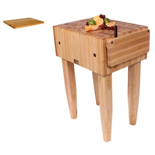 John Boos 'PCA1' Pro Chef Butcher Block Table 18 inch x 18 inch and Cutting Board