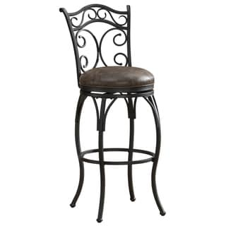 Savita Scroll Back Swivel Stool