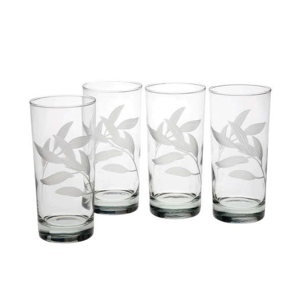Bamboo Garden Hiball Glasses (Set of 4)