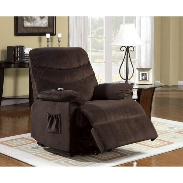 Furniture of America Estelle Plush Cushion Stand-assist Power Lift Bella Fabric Chair