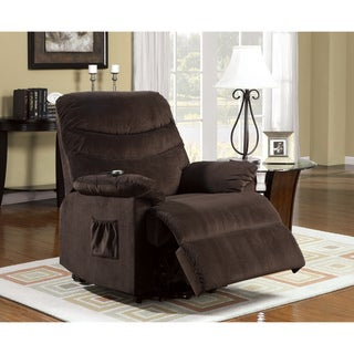 Furniture of America Estelle Plush Cushion Stand-assist Power Lift Bella Fabric Chair