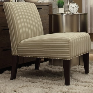 INSPIRE Q Peterson Spring Green Stripe Slipper Chair