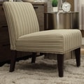 Kayla Colby Striped Fabric Armless Lounge Chair