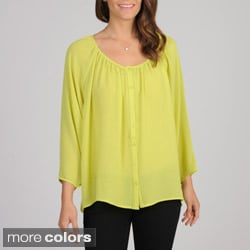 Spense Women's Scoop Neck Raglan Blouse