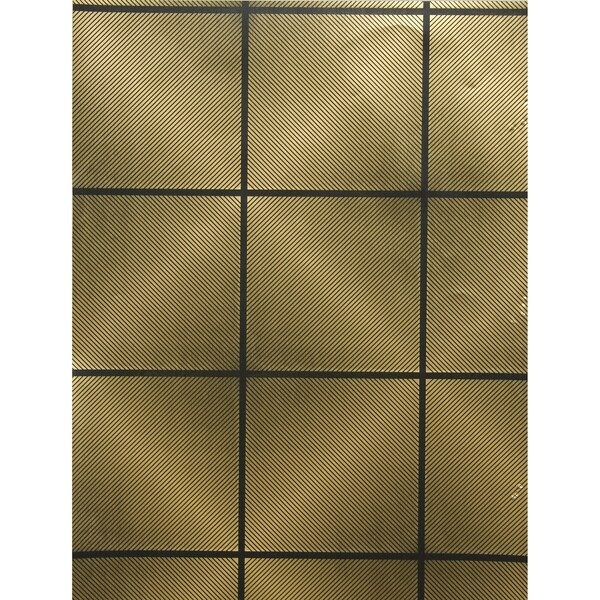 Gold Geomtric Tile Wallpaper